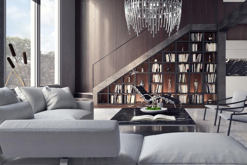 Stairs & livingroom